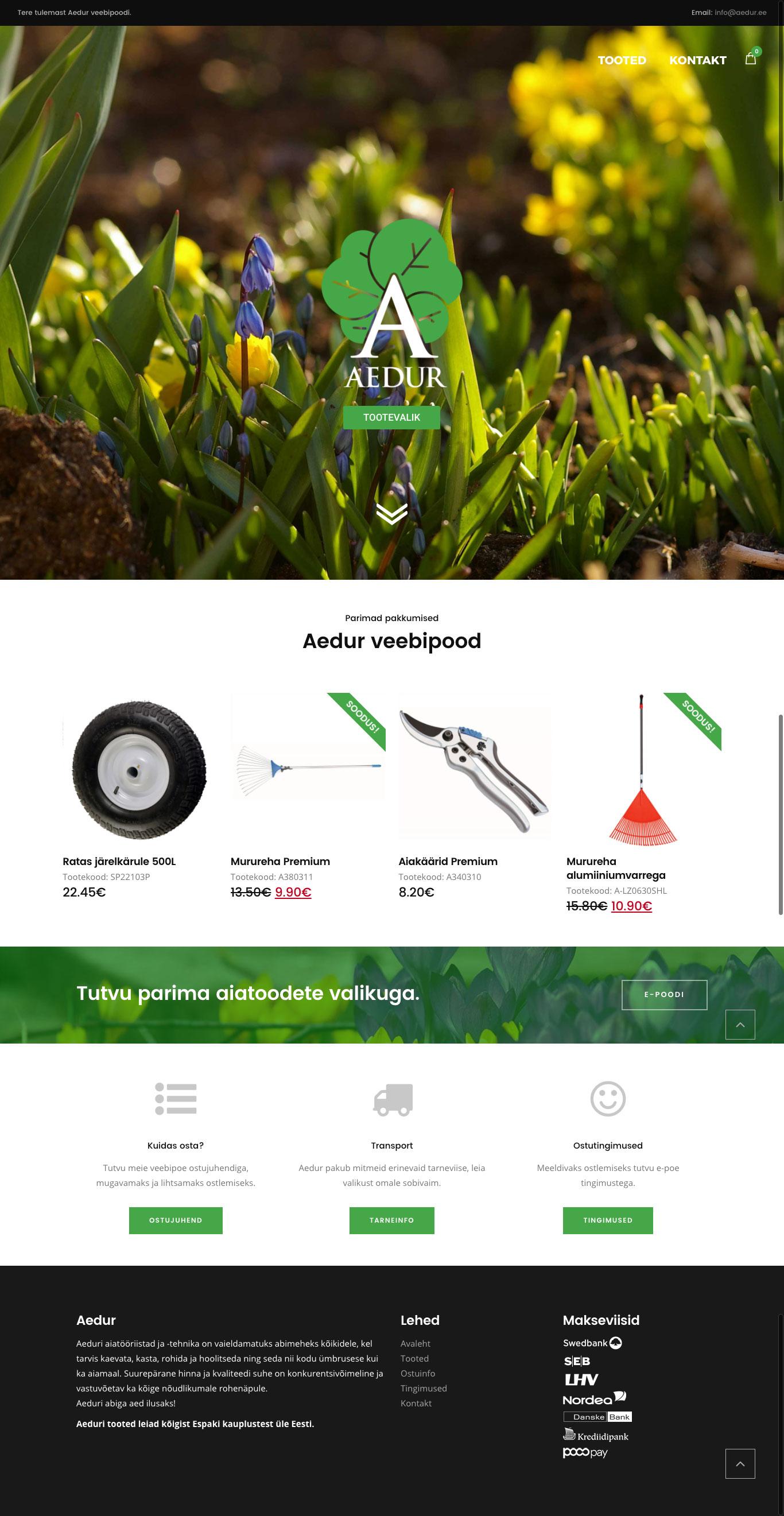 Portfolio image of Aedur website
