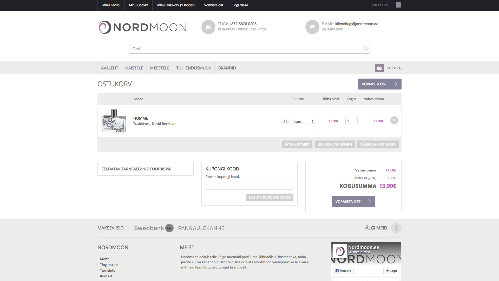 Portfolio image of Nordmoon website